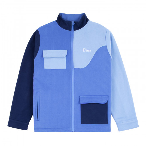 Dime Brushed Cotton Track Jacket Blue