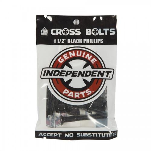 "Independent Genuine Parts 1 1/2"" Phillips Hardware Black"