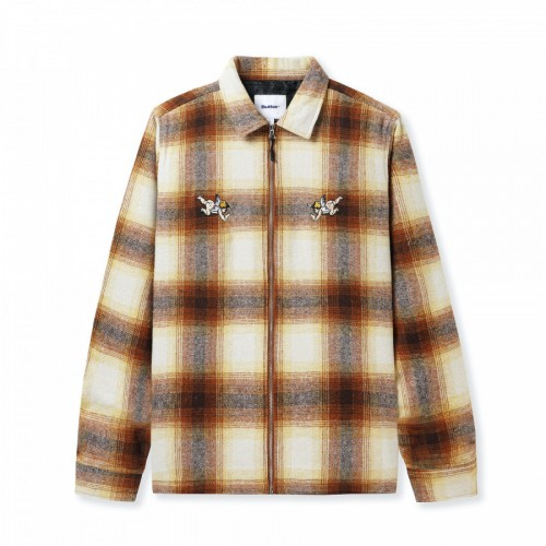 Butter Goods Angel Plaid Overshirt Brown/Taupe